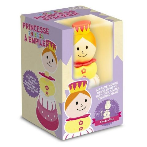 Princess Stacker - Wooden Traditional Stacking Ring Toy (Age 12 Months Plus)